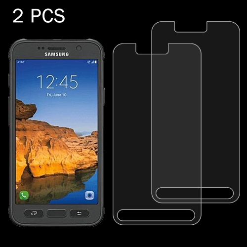2 PCS For Samsung Galaxy S7 Active 0.26mm 9H Surface Hardness 2.5D Explosion-proof Tempered Glass Screen Film