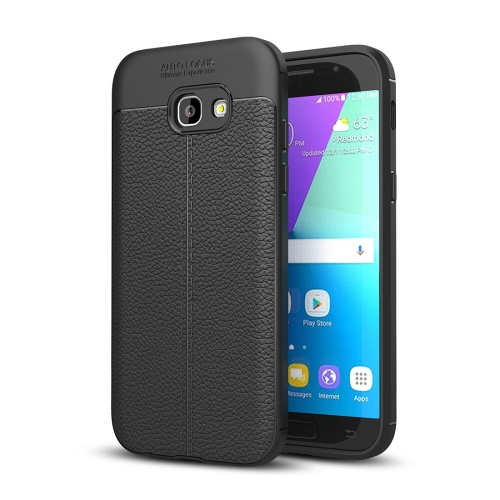 Buy For Samsung Galaxy A5, 2017 / A520 Litchi Texture TPU Protective Case, Black for $2.29 in SUNSKY store