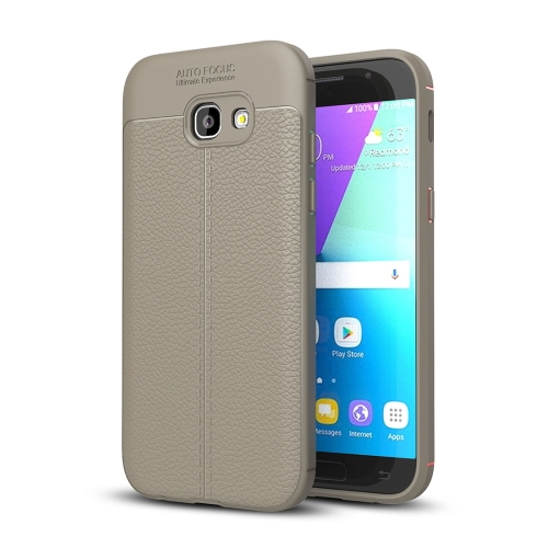 Buy For Samsung Galaxy A5, 2017 / A520 Litchi Texture TPU Protective Case, Grey for $2.30 in SUNSKY store