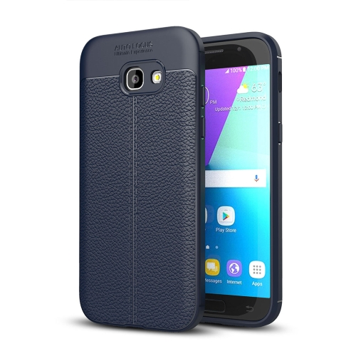 Buy For Samsung Galaxy A5, 2017 / A520 Litchi Texture TPU Protective Case, navy for $2.28 in SUNSKY store