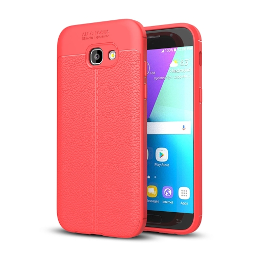 For Samsung Galaxy A5, 2017 / A520 Litchi Texture TPU Protective Case, Red