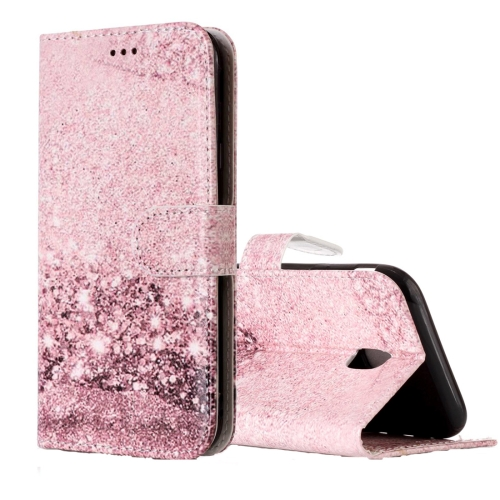 Buy For Samsung Galaxy J3, 2017 (EU Version) Rose Gold Pattern Horizontal Flip Leather Case with Holder & Card Slots & Wallet for $2.53 in SUNSKY store