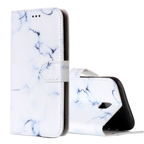 Buy For Samsung Galaxy J5, 2017 (EU Version) White Marble Pattern Horizontal Flip Leather Case with Holder & Card Slots & Wallet for $2.67 in SUNSKY store