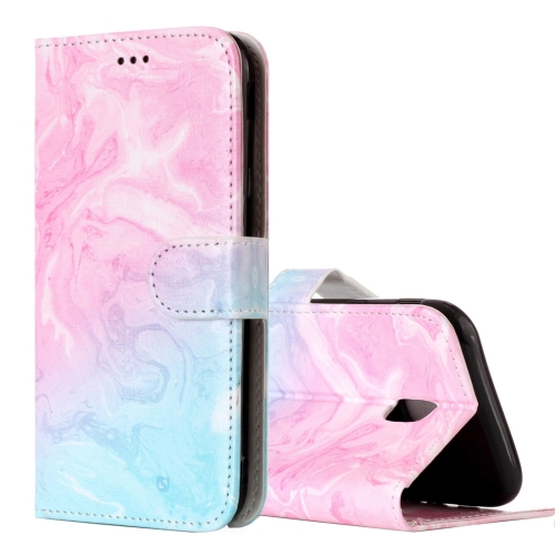 Buy For Samsung Galaxy J5, 2017 (EU Version) Pink Green Marble Pattern Horizontal Flip Leather Case with Holder & Card Slots & Wallet for $2.67 in SUNSKY store
