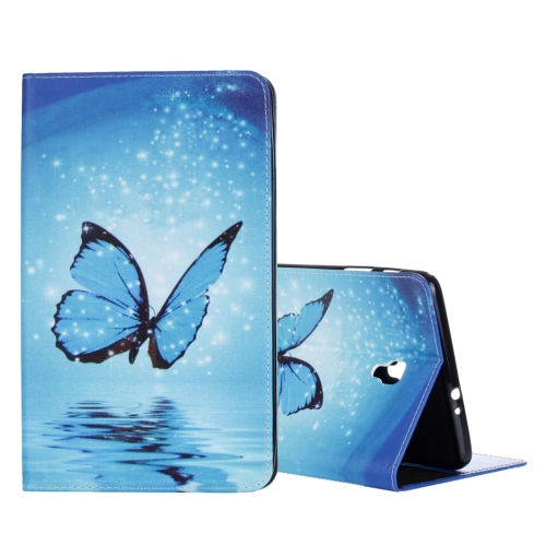 Buy For Samsung Galaxy Tab A 8.0, 2017 / T385 Blue Butterfly Pattern Horizontal Flip Leather Case with Holder & Card Slots & Wallet, White for $4.46 in SUNSKY store