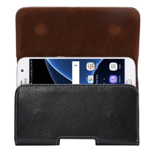 Buy 5.2 inch Litchi Texture Vertical Flip Thwartwise Genuine Leather Case / Waist Bag with Rotatable Back Splint for iPhone X & Samsung Galaxy S7 & S6 Edge & S6 & S5, Sony Xperia Z5 & Z4 & Z3, Huawei P9 & P8, etc for $4.20 in SUNSKY store