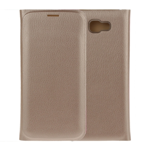 Buy For Samsung Galaxy A7, 2017 / A720 Pure Colour Horizontal Flip Leather Protective Case with Card Slot, Gold for $2.54 in SUNSKY store