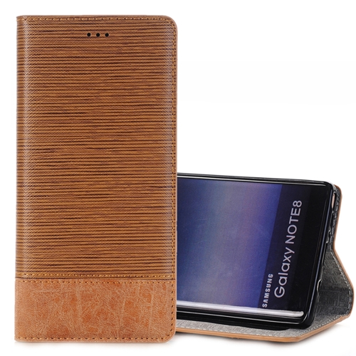 Buy For Samsung Galaxy Note 8 Cross Texture Horizontal Flip Case Cover with Card Slots & Holder & Wallet, Brown for $3.44 in SUNSKY store