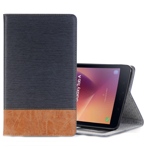 Buy For Samsung Galaxy Tab A 8.0, 2017 / T385 Cross Texture Horizontal Flip Case Cover with Card Slots & Holder & Wallet (Navy Blue) for $5.53 in SUNSKY store