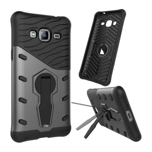 Buy For Samsung Galaxy J3, 2016 / J310 Shock-Resistant 360 Degree Spin Tough Armor TPU+PC Combination Case with Holder, Black for $2.32 in SUNSKY store