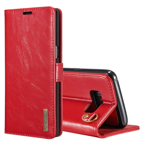 Buy DG.MING for Samsung Galaxy Note 8 Genuine Leather Horizontal Flip Detachable Magnetic Protective Case with Holder & Card Slots & Lanyard, Red for $7.31 in SUNSKY store