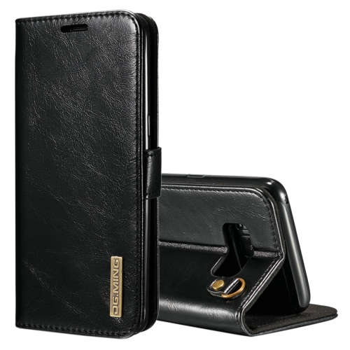Buy DG.MING for Samsung Galaxy S8 + / G955 Genuine Leather Horizontal Flip Detachable Magnetic Protective Case with Holder & Card Slots & Lanyard, Black for $7.31 in SUNSKY store