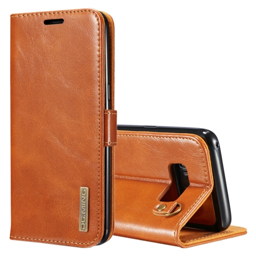 Buy DG.MING for Samsung Galaxy S8 + / G955 Genuine Leather Horizontal Flip Detachable Magnetic Protective Case with Holder & Card Slots & Lanyard, Brown for $7.31 in SUNSKY store