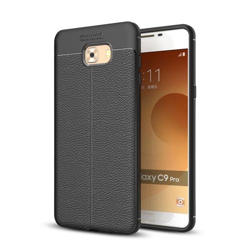 Buy For Samsung Galaxy C9 Pro Litchi Texture Design Soft TPU Anti-skip Protective Cover Back Case, Black for $2.28 in SUNSKY store