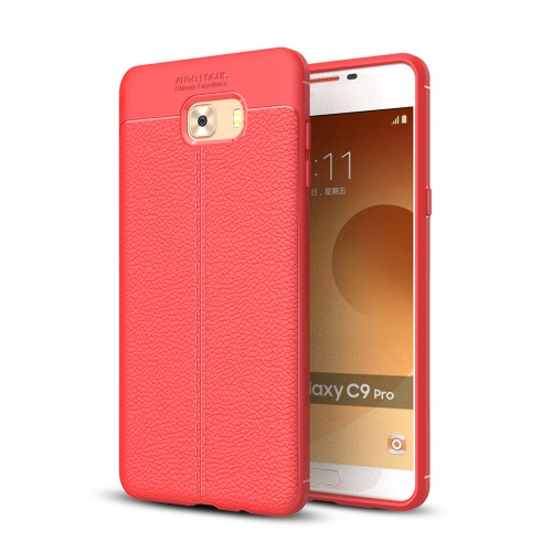 Buy For Samsung Galaxy C9 Pro Litchi Texture Design Soft TPU Anti-skip Protective Cover Back Case, Red for $2.28 in SUNSKY store