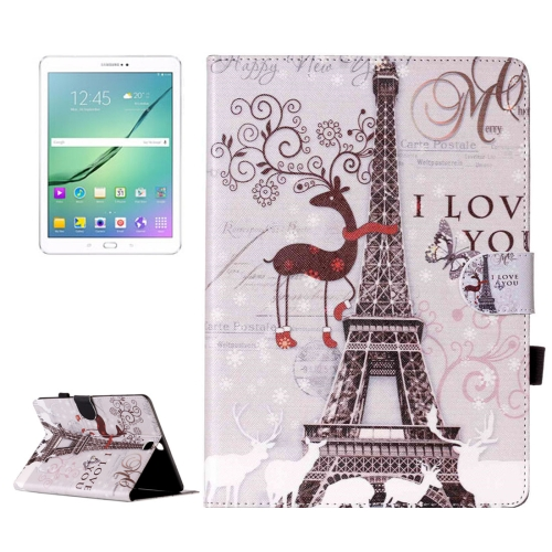 Buy For Samsung Galaxy Tab S2 9.7 / T815 Deer and Tower Pattern Horizontal Flip Leather Case with Holder & Card Slots & Wallet for $5.37 in SUNSKY store