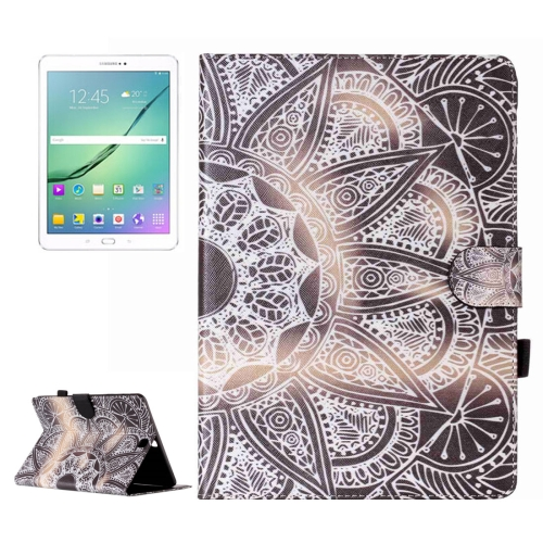 Buy For Samsung Galaxy Tab S2 9.7 / T815 Half Flower Pattern Horizontal Flip Leather Case with Holder & Card Slots & Wallet for $5.37 in SUNSKY store