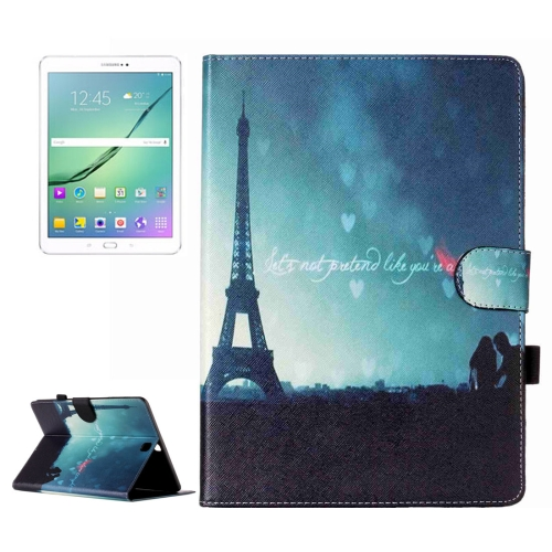 Buy For Samsung Galaxy Tab S2 9.7 / T815 Night Tower Pattern Horizontal Flip Leather Case with Holder & Card Slots & Wallet for $5.37 in SUNSKY store