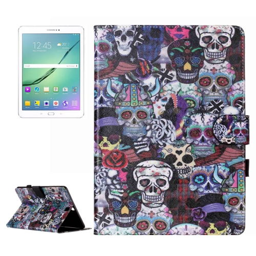 Buy For Samsung Galaxy Tab S2 9.7 / T815 Ghost Head Pattern Horizontal Flip Leather Case with Holder & Card Slots & Wallet for $5.37 in SUNSKY store