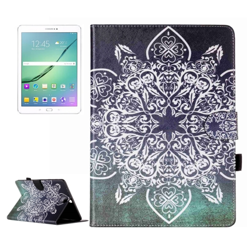 Buy For Samsung Galaxy Tab S2 9.7 / T815 Retro Flower Pattern Horizontal Flip Leather Case with Holder & Card Slots & Wallet for $5.37 in SUNSKY store