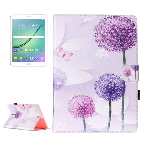 Buy For Samsung Galaxy Tab S2 9.7 / T815 Purple Dandelion Pattern Horizontal Flip Leather Case with Holder & Card Slots & Wallet for $5.37 in SUNSKY store