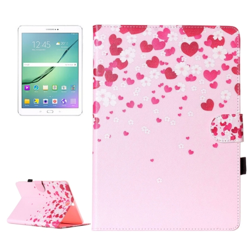 Buy For Samsung Galaxy Tab S2 9.7 / T815 Love Flower Pattern Horizontal Flip Leather Case with Holder & Card Slots & Wallet for $5.37 in SUNSKY store