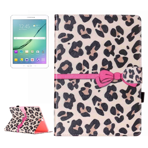 Buy For Samsung Galaxy Tab S2 9.7 / T815 Yellow Leopard and Bow Pattern Horizontal Flip Leather Case with Holder & Card Slots & Wallet for $5.37 in SUNSKY store