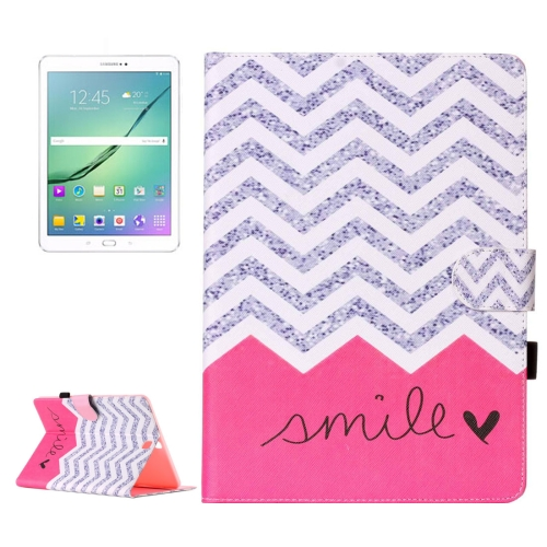 Buy For Samsung Galaxy Tab S2 9.7 / T815 Wave & Smile Pattern Horizontal Flip Leather Case with Holder & Card Slots & Wallet for $5.37 in SUNSKY store