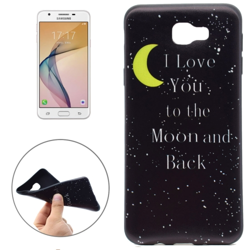 Buy For Samsung Galaxy On5, 2016 / G570 I Love You To the Moon and Back Pattern Soft TPU Protective Back Cover Case for $1.16 in SUNSKY store