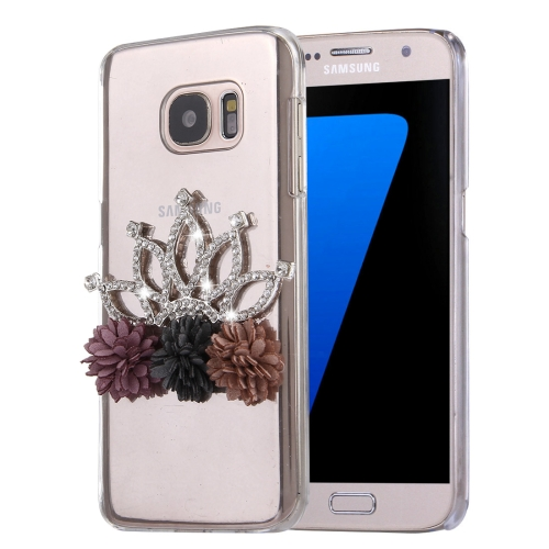 Buy Fevelove for Samsung Galaxy S7 / G930 Diamond Encrusted Bling Crown Cloth Flower Pattern PC Protective Case Back Cover for $3.23 in SUNSKY store