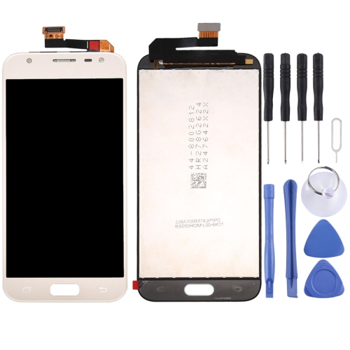 Original LCD Screen and Digitizer Full Assembly for Galaxy J3 (2017) / J330(Gold)