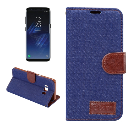 Buy Dibase For Samsung Galaxy S8 + / G955 Denim Texture Horizontal Flip Leather Case with Holder & Card Slots (Dark Blue) for $2.51 in SUNSKY store