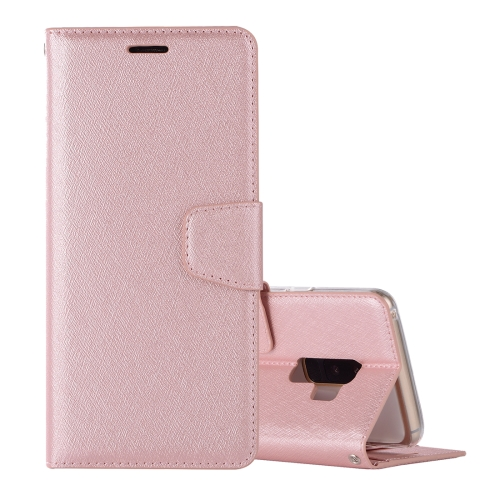 Buy For Samsung Galaxy S9+ Silk Texture Horizontal Flip Leather Case with Holder & Card slots & Wallet & Photo Frame (Rose Gold) for $3.18 in SUNSKY store