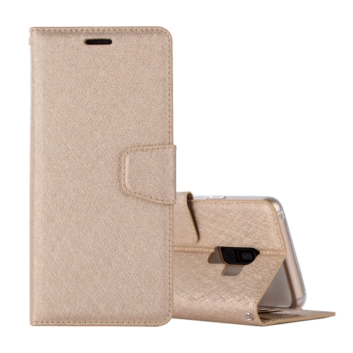 Buy For Samsung Galaxy S9 Silk Texture Horizontal Flip Leather Case with Holder & Card slots & Wallet & Photo Frame, Gold for $3.18 in SUNSKY store
