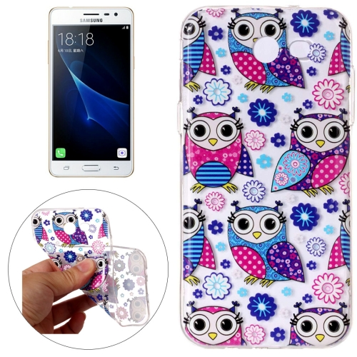 Buy For Samsung Galaxy J3, 2017 (US Version) Flower Owls Pattern Embossment TPU Protective Back Cover Case for $1.54 in SUNSKY store