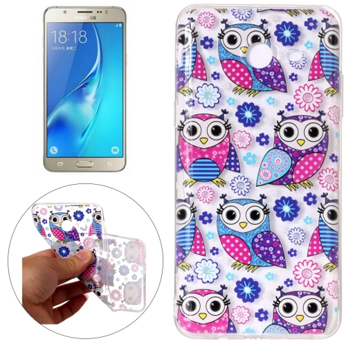 Buy For Samsung Galaxy J5, 2017 (US Version) Flower Owls Pattern Embossment TPU Protective Back Cover Case for $1.54 in SUNSKY store