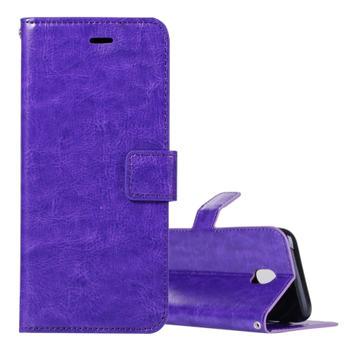 Buy For Samsung Galaxy J3, 2017 (EU Version) Crazy Horse Texture Horizontal Flip Leather Case with Holder & Card Slots & Wallet & Photo Frame, Purple for $2.43 in SUNSKY store