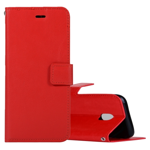 Buy For Samsung Galaxy J3, 2017 (EU Version) Crazy Horse Texture Horizontal Flip Leather Case with Holder & Card Slots & Wallet & Photo Frame, Red for $2.43 in SUNSKY store