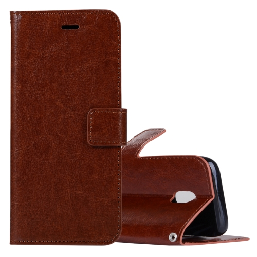 Buy For Samsung Galaxy J3, 2017 (EU Version) Crazy Horse Texture Horizontal Flip Leather Case with Holder & Card Slots & Wallet & Photo Frame, Brown for $2.43 in SUNSKY store