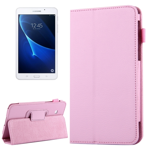 Buy For Samsung Galaxy Tab A 7.0 / T280 Litchi Texture Magnetic Horizontal Flip Leather Case with Holder, Pink for $2.47 in SUNSKY store
