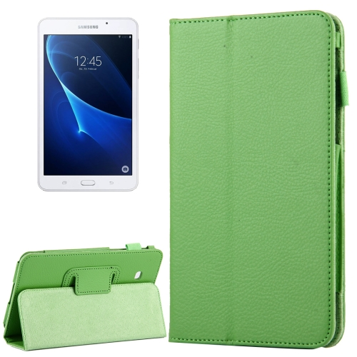Buy For Samsung Galaxy Tab A 7.0 / T280 Litchi Texture Magnetic Horizontal Flip Leather Case with Holder, Green for $2.47 in SUNSKY store