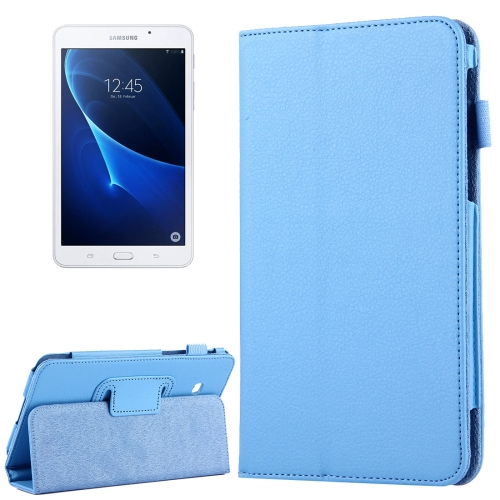 Buy For Samsung Galaxy Tab A 7.0 / T280 Litchi Texture Magnetic Horizontal Flip Leather Case with Holder, Blue for $2.47 in SUNSKY store