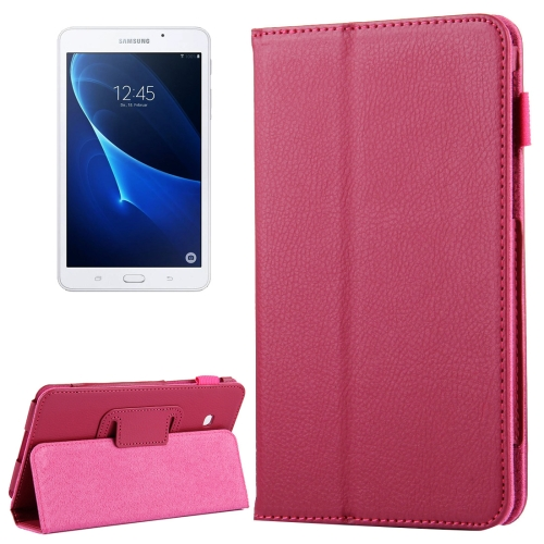 Buy For Samsung Galaxy Tab A 7.0 / T280 Litchi Texture Magnetic Horizontal Flip Leather Case with Holder, Magenta for $2.47 in SUNSKY store
