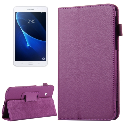 Buy For Samsung Galaxy Tab A 7.0 / T280 Litchi Texture Magnetic Horizontal Flip Leather Case with Holder, Purple for $2.47 in SUNSKY store