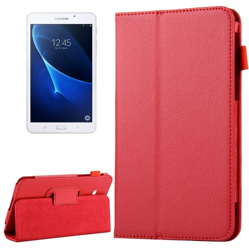 Buy For Samsung Galaxy Tab A 7.0 / T280 Litchi Texture Magnetic Horizontal Flip Leather Case with Holder, Red for $2.47 in SUNSKY store