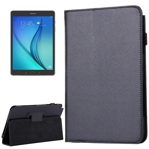 Buy For Samsung Galaxy Tab A 8.0 / T350 Litchi Texture Magnetic Horizontal Flip Leather Case with Holder, Black for $2.47 in SUNSKY store
