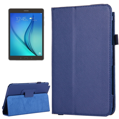 Buy For Samsung Galaxy Tab A 8.0 / T350 Litchi Texture Magnetic Horizontal Flip Leather Case with Holder (Dark Blue) for $2.47 in SUNSKY store