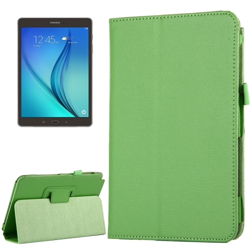 Buy For Samsung Galaxy Tab A 8.0 / T350 Litchi Texture Magnetic Horizontal Flip Leather Case with Holder, Green for $2.47 in SUNSKY store