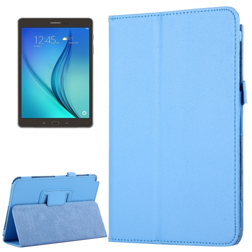 Buy For Samsung Galaxy Tab A 8.0 / T350 Litchi Texture Magnetic Horizontal Flip Leather Case with Holder, Blue for $2.47 in SUNSKY store