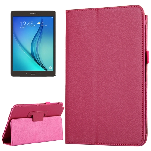 Buy For Samsung Galaxy Tab A 8.0 / T350 Litchi Texture Magnetic Horizontal Flip Leather Case with Holder, Magenta for $2.47 in SUNSKY store